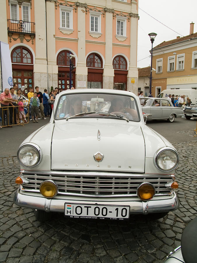 Old Photograph - Moscvich Old Car by Odon Czintos