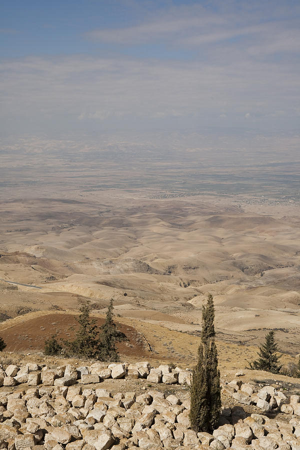 Mount Nebo Photograph - Moses First Saw The The Holy Land by Taylor S. Kennedy