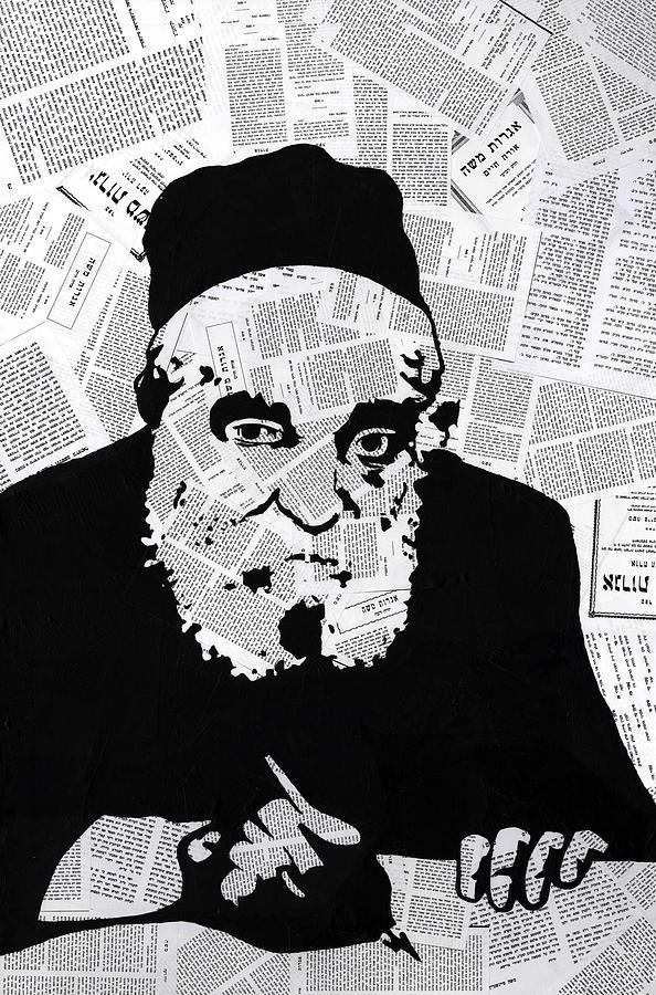Moshe Painting - Moshe Feinstein by Anshie Kagan