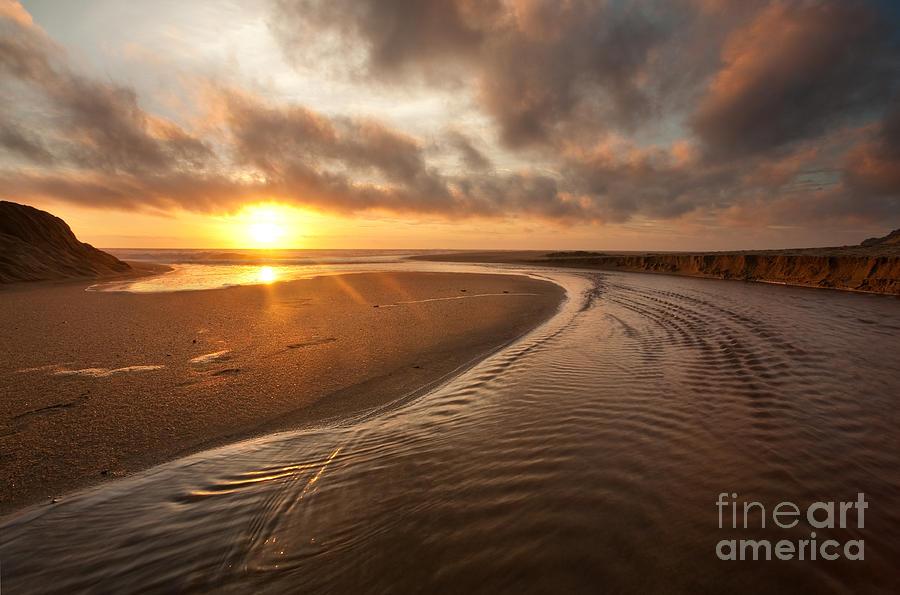 Sunset Photograph - Moss Beach at Sunset by Matt Tilghman