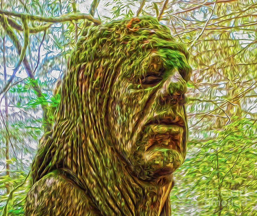 Moss Painting - Moss Man by Gregory Dyer