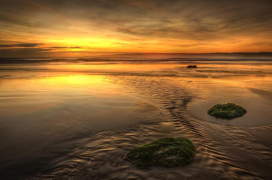 Bay Photograph - Mossy Rocks by Svetlana Sewell