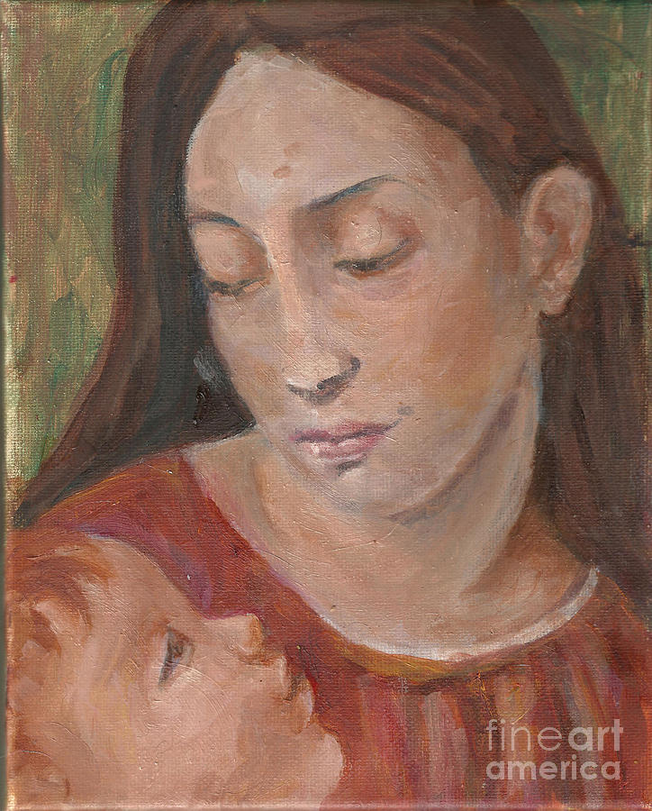 Mother Painting - Mother And Child by Lyn Vic