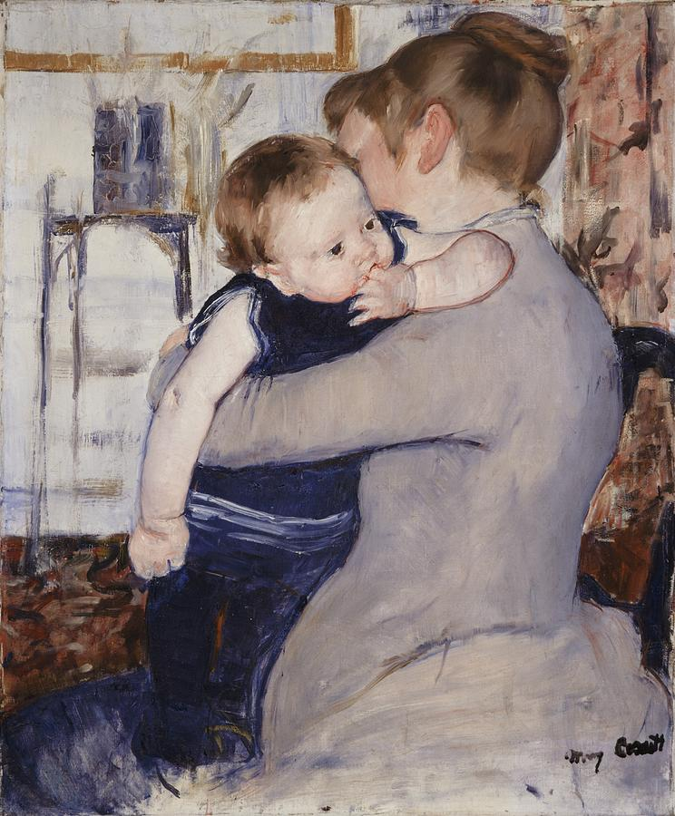 Female Painting - Mother And Child by Mary Stephenson