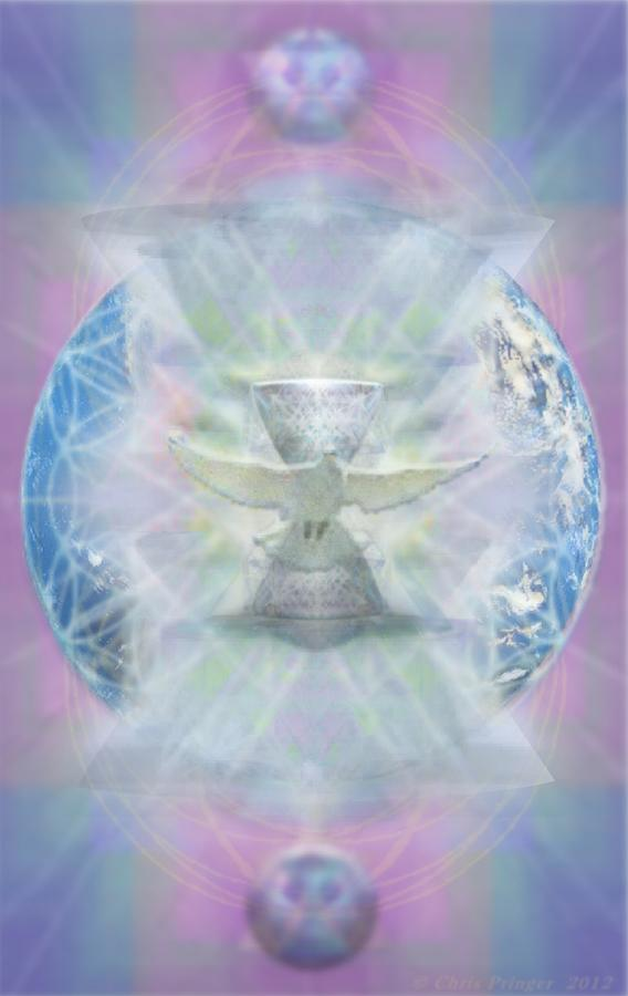 Dove Digital Art - Mother Earth Dove And Chalice by Christopher Pringer