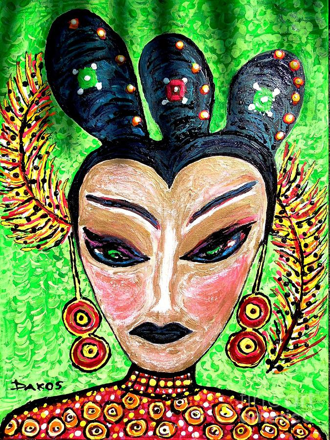 Portrait Painting - Mother Gin Sling  by Darlyne Sax