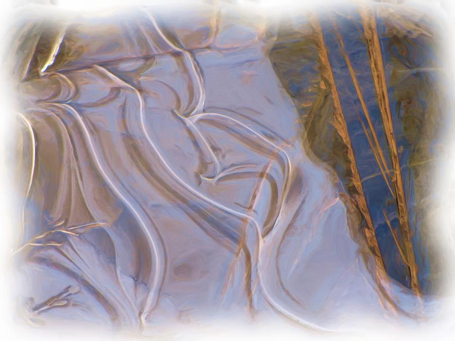 Abstract Photograph - Mother Nature Does Ice by Feva  Fotos