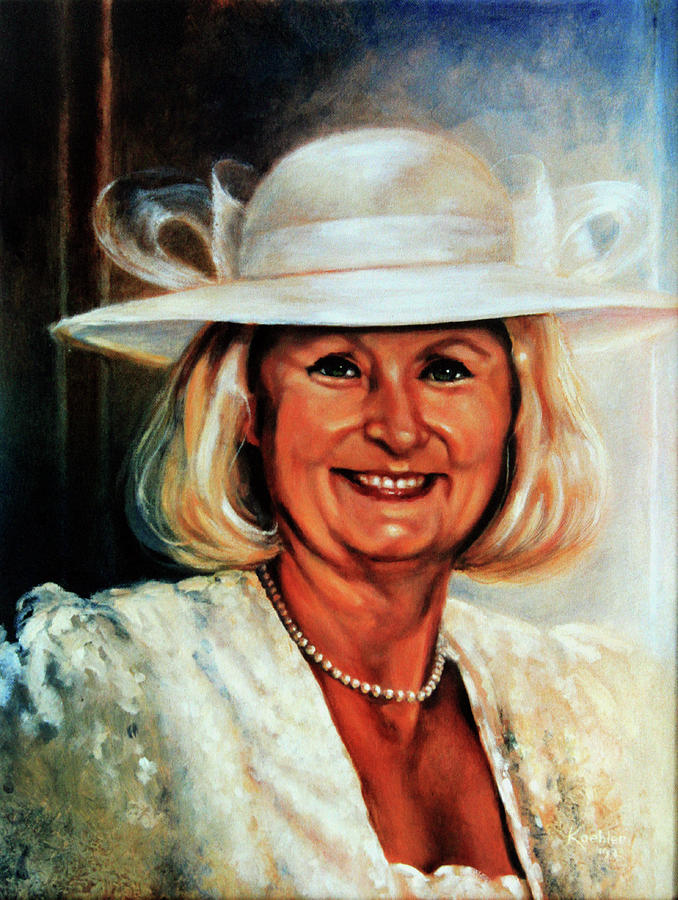 Bridal Portrait Painting - Mother Of The Bride by Hanne Lore Koehler