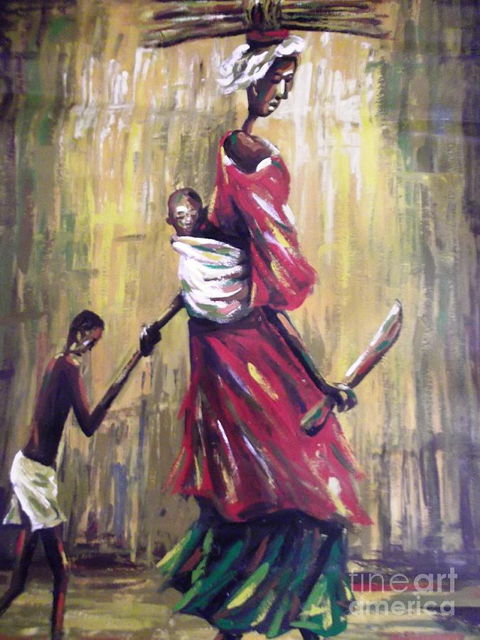 Mother With Hope Painting by Dennis Spaine