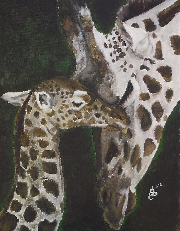 Acrylic Painting - Motherly Love by Kim Selig