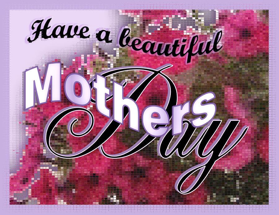 Greeting Card Digital Art - Mothers Day Pink Petunias by Susan Kinney