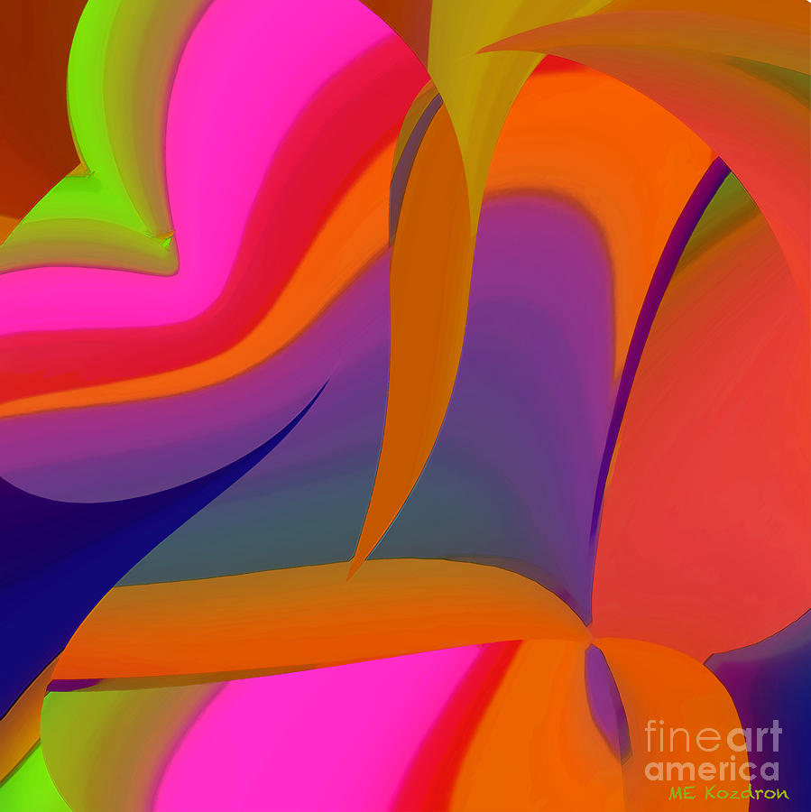 Abstract Digital Art - Motility by ME Kozdron