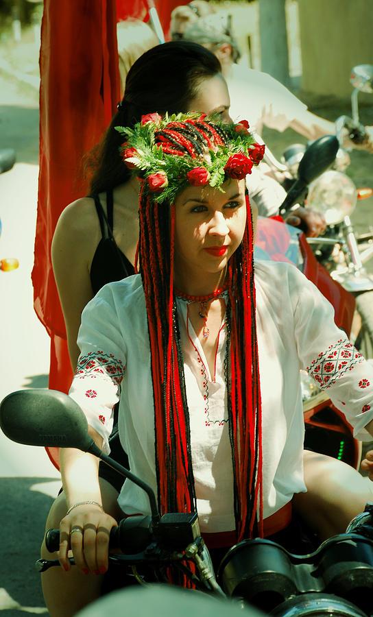 Motorcycle Photograph - Motor-bride by Zhanna Vozbranna