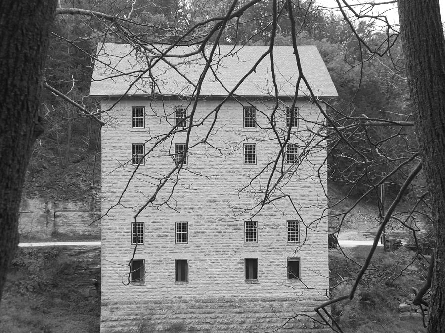 River Photograph - Motor Mill Bw3 by Bonfire Photography