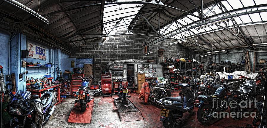 Motorbike Garage Photograph by Yhun Suarez