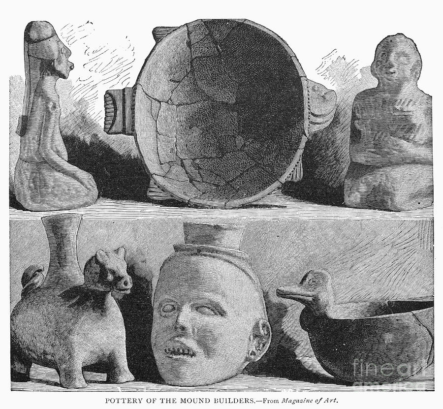 America Photograph - Mound Builders: Pottery by Granger