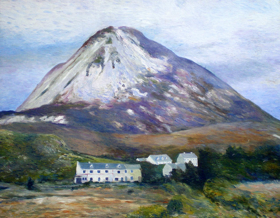 Impressionism Painting - Mount Errigal Co. Donegal Ireland 1997 by Enver Larney