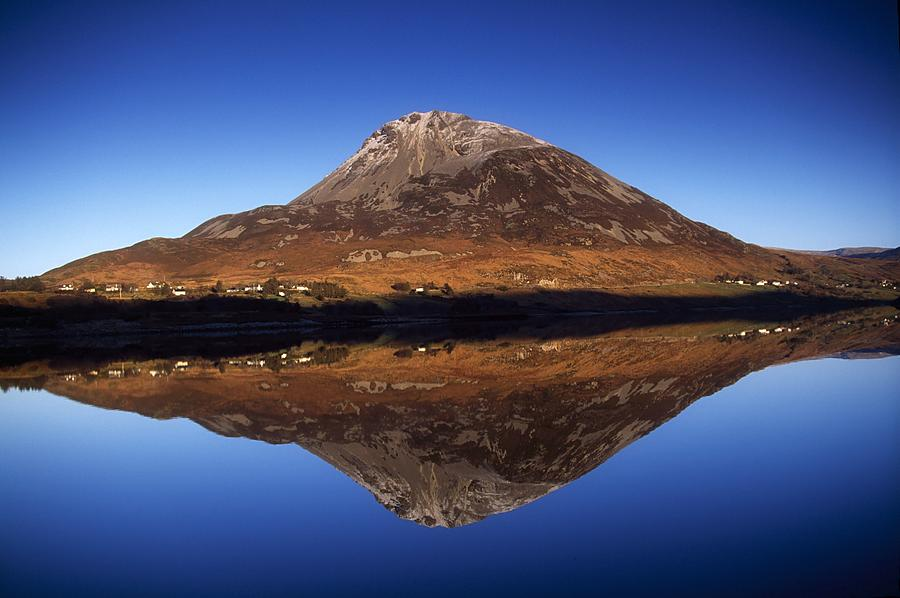 Lough Photograph - Mount Errigal, Lough Nacung, Dunlewy by Gareth McCormack