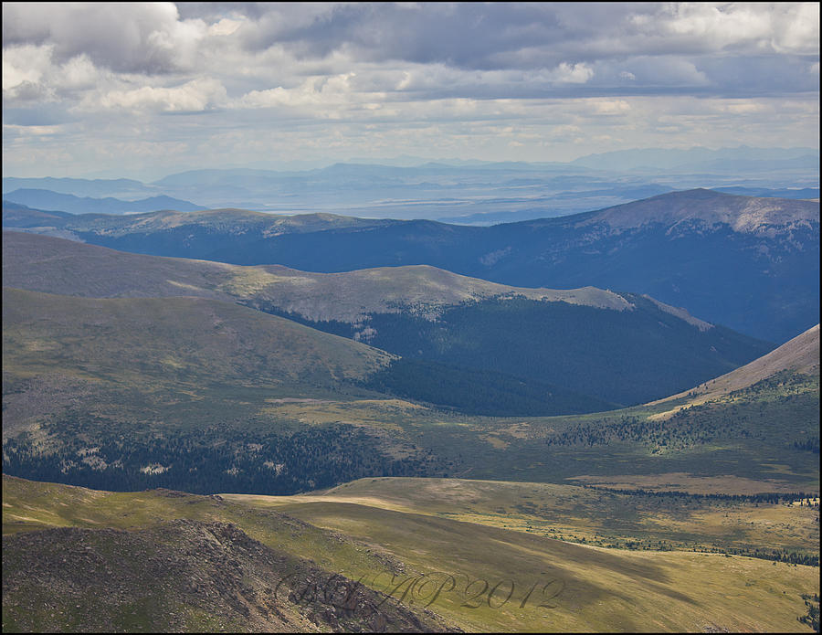 Mountains Photograph - Mount Evans Hours Before Tornado Touched Down View 4 by DankLilli Art And Photography