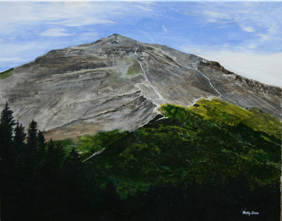 Seward Alaska Painting - Mount Marathon  by Betty-Anne McDonald