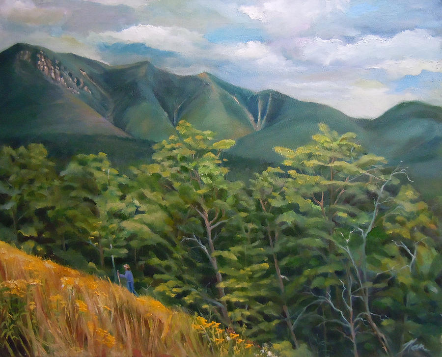 Mount Osceola Painting - Mount Osceola From Kancamagus Highway New Hampshire by Nancy Griswold