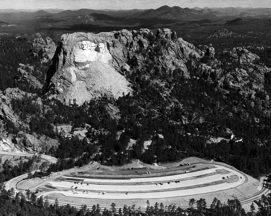 1950s Photograph - Mount Rushmore, With The Faces Of U.s by Everett