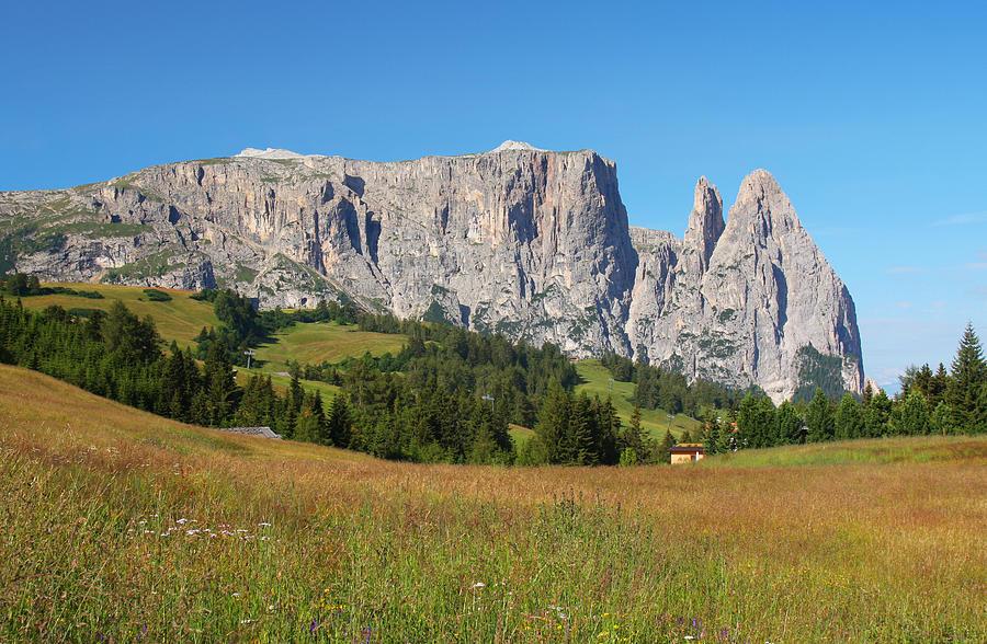 Dolomites Photograph - Mount Sciliar In Summer by Dan Breckwoldt