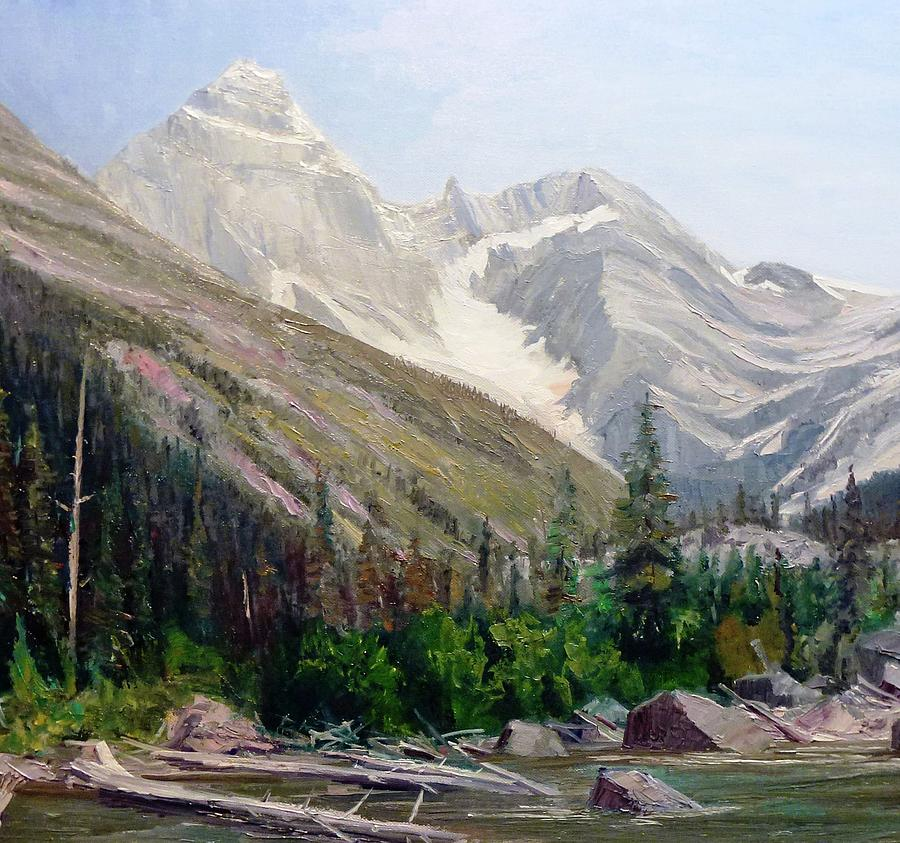 Roger's Pass Painting - Mount Sir Donald by Tom Siebert