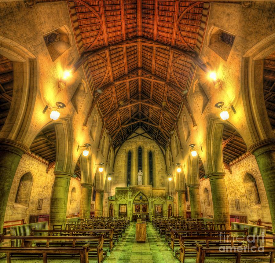 Hdr Photograph - Mount St Bernard Abbey - The Nave by Yhun Suarez