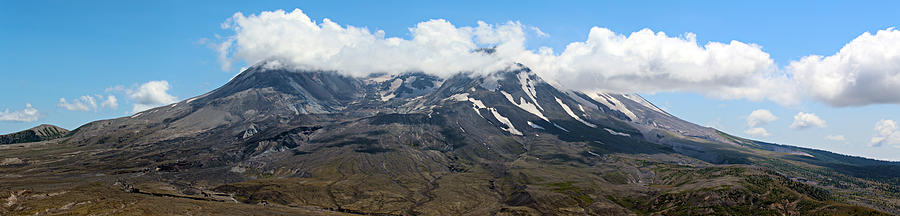 Blue Photograph - Mount St Helens by Paul Fell