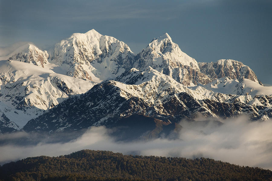 Alps Photograph - Mount Tasman And Mount Cook Southern by Colin Monteath