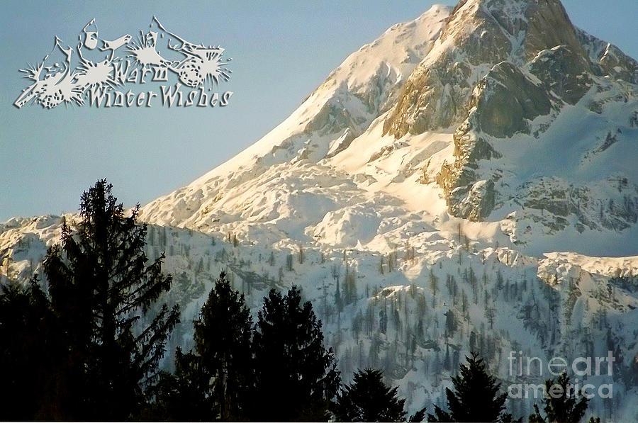 Winter Photograph - Mountain Christmas 2 Austria Europe by Sabine Jacobs