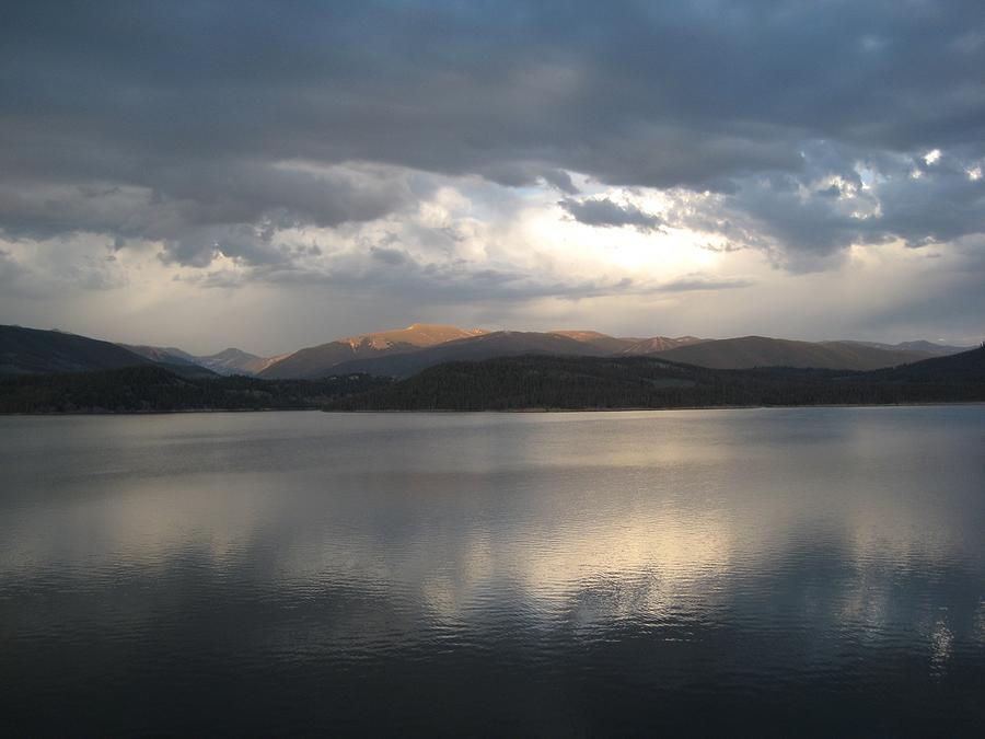 Trail Ridge Digital Art - Mountain Lake by Bill Kennedy