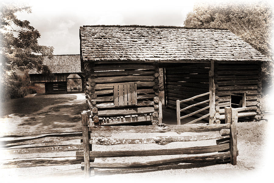 Barn Photograph - Mountain Life by Barry Jones