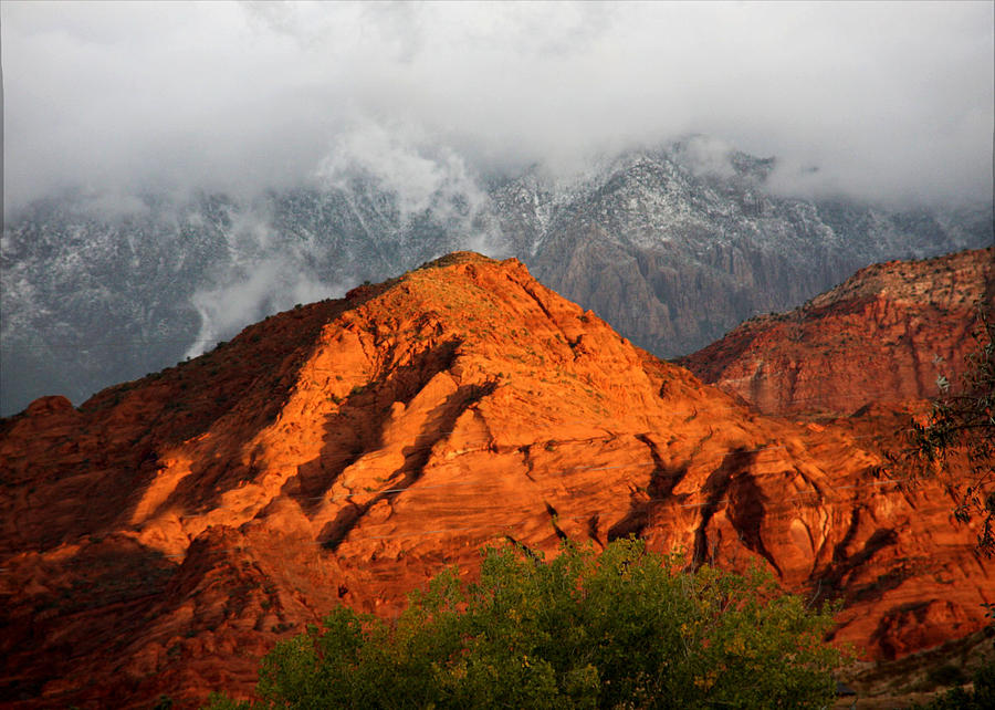 Red Rock Photograph - Mountain Mist by Marta Alfred