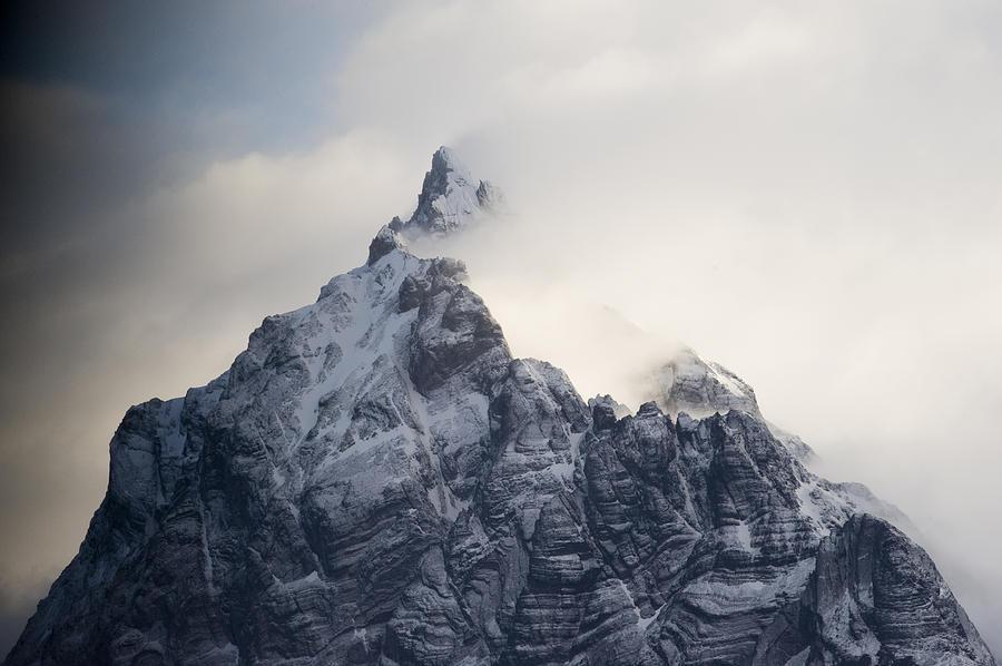 Mountain Peak In The Salvesen Range Photograph by Flip Nicklin