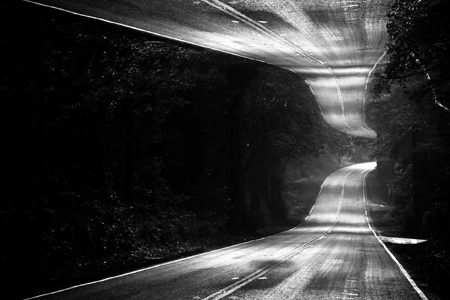 Forest Photograph - Mountain Road Dream by Matt Hanson