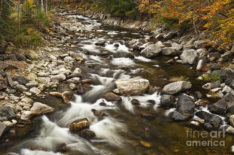 New England Photograph - Mountain Stream In Autumn by John Greim