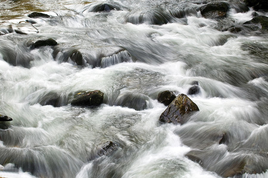 Water Photograph - Mountain Stream Smokies by Rich Franco