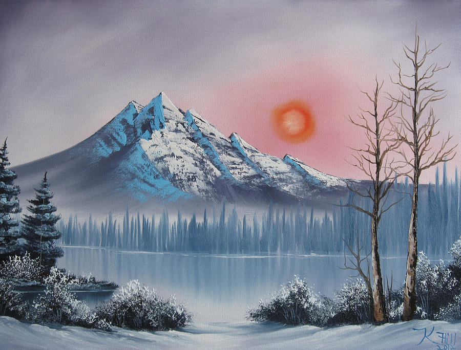Sunset Painting - Mountain Sunset by Kevin Hill