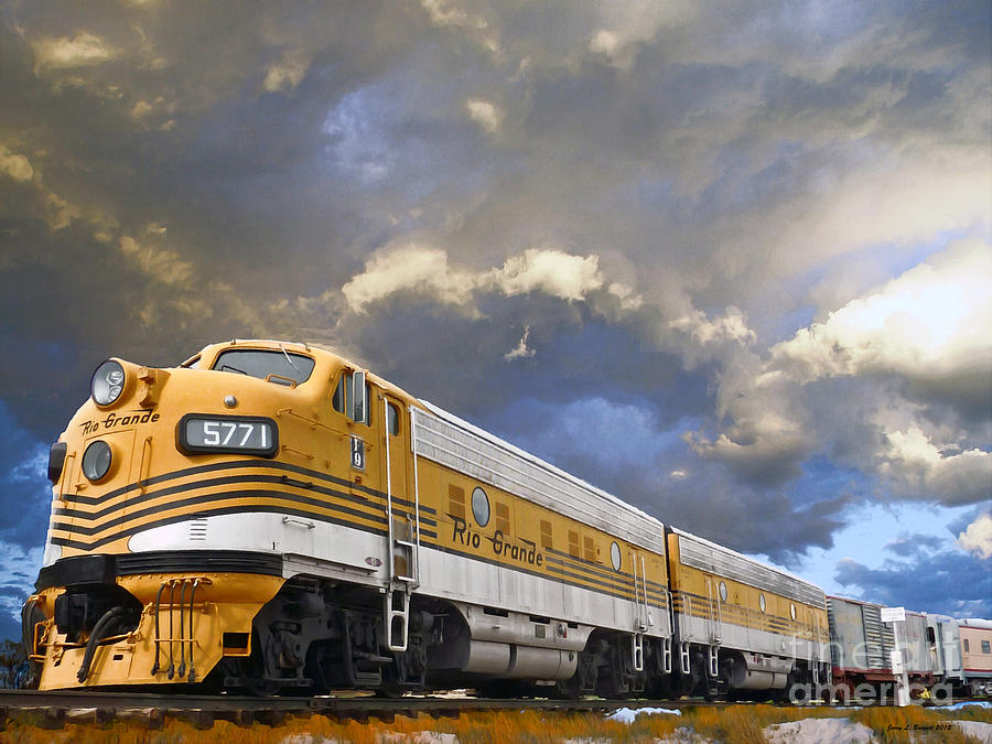 Mountain Train by Jerry L Barrett