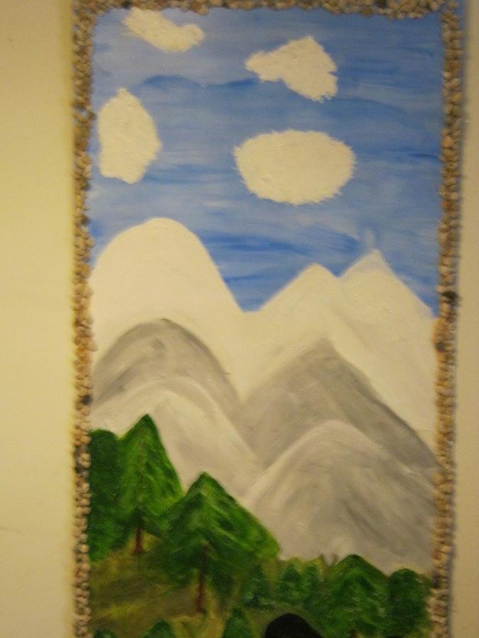 Mountain View Drawing By Brenda Harris