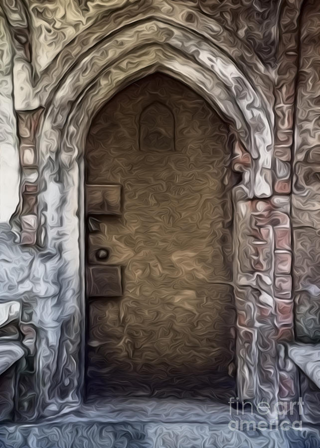 Graveyard Painting - Mountain View Cemetery Tomb - Number 1 by Gregory Dyer