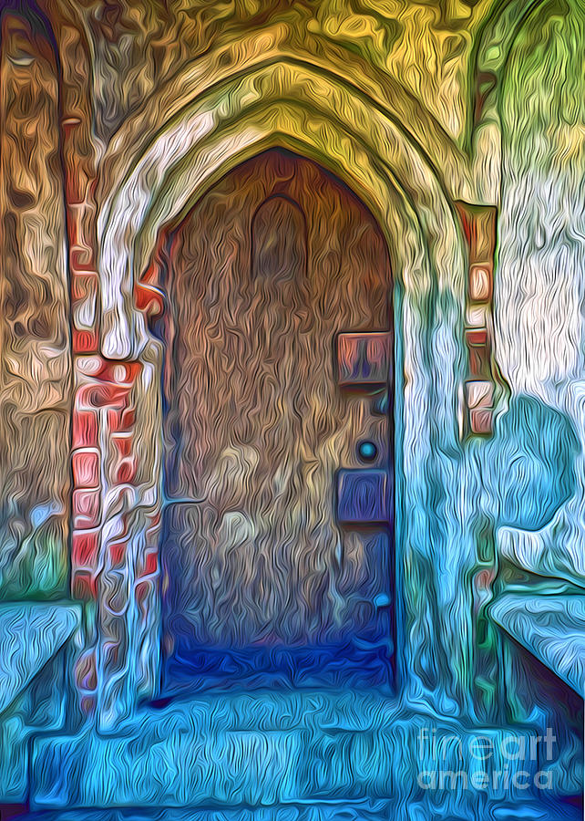 Graveyard Painting - Mountain View Cemetery Tomb - Number 2 by Gregory Dyer