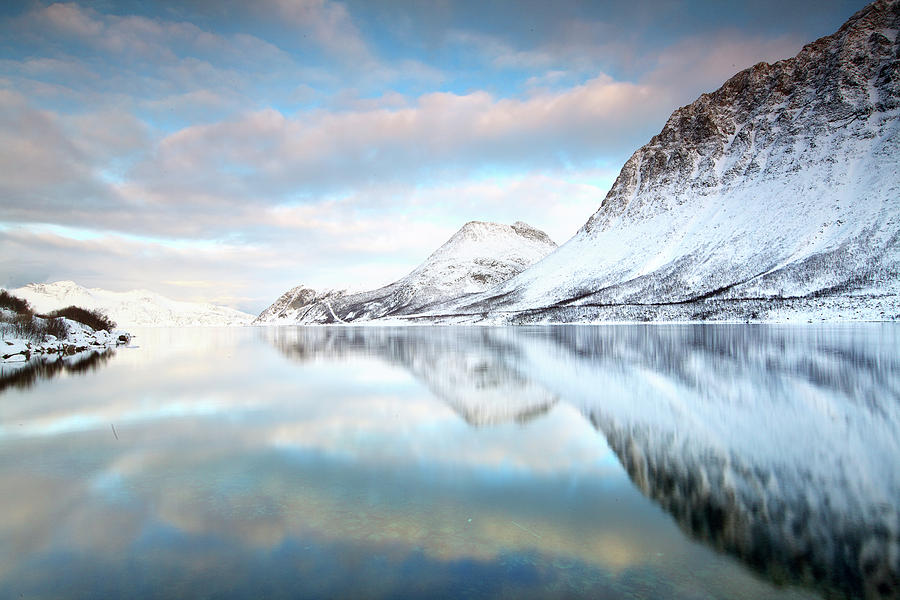 Horizontal Photograph - Mountains In Fjord by Sandra Kreuzinger