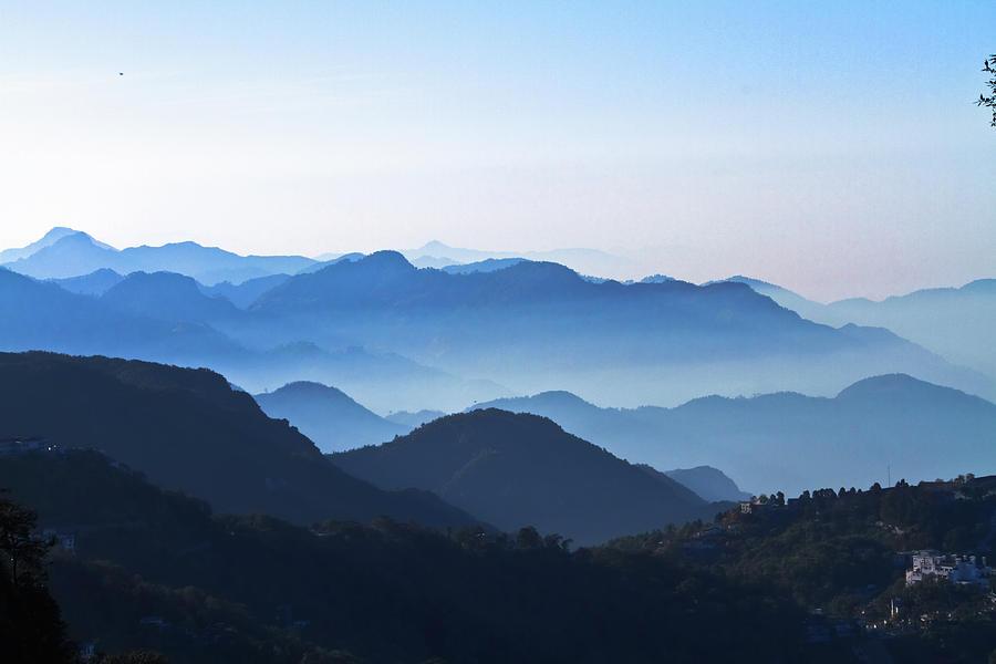 Horizontal Photograph - Mountains Layers by Tarun Chopra