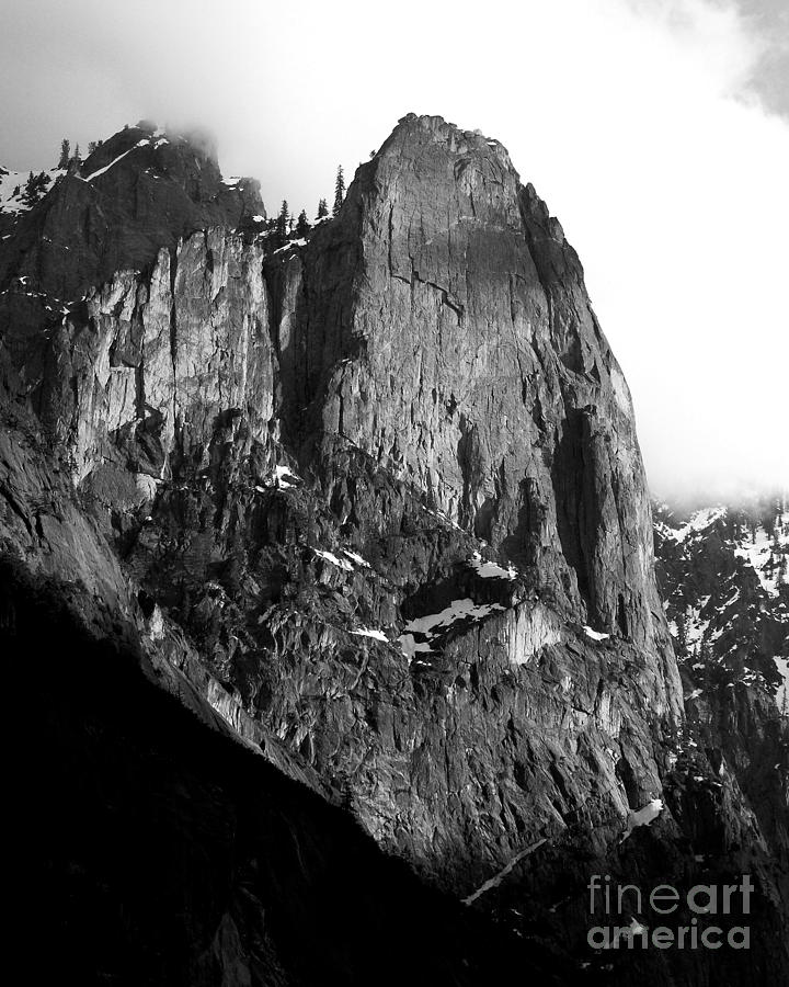 Black and white photograph mountains of yosemite 7d6167 vertical cut black and