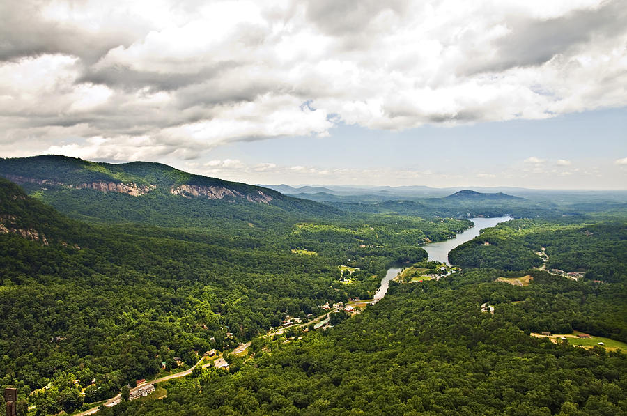 Mountains Photograph - Mountains With Lake In The Valley by Susan Leggett