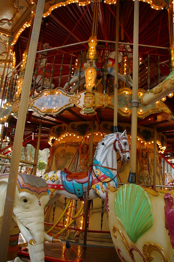 Carousel Photograph - Movement by Christine Burdine