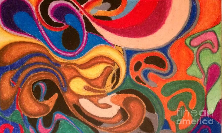 Abstract Pastel - Movement by Damion Powell